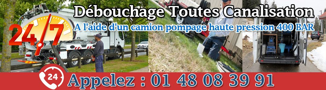 Debouchage canalisation 95 Val d'Oise