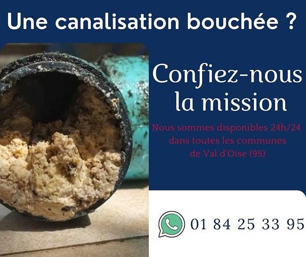 canalisation bouchée a Val d'Oise (95): Des solutions sur mesure pour la déboucher