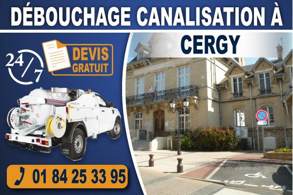 debouchage-canalisation-Cergy
